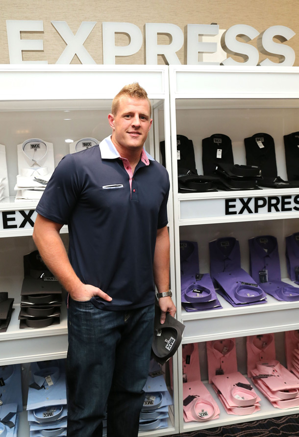 J.J. Watt at Express 1MX Shirt Shop