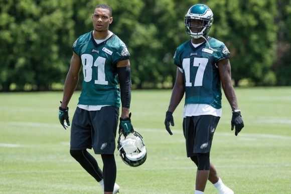 Wide outs Jordan Matthews and Nelson Agholor have had their fair share of struggles